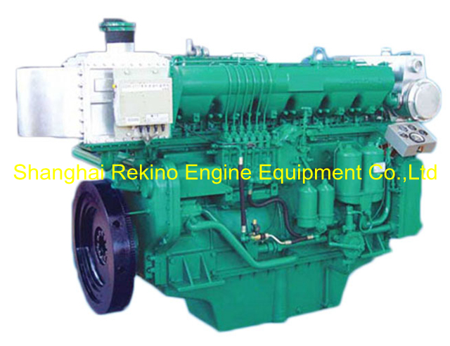 600HP 1350RPM Weichai medium speed marine diesel engine (X6170ZC600-3)