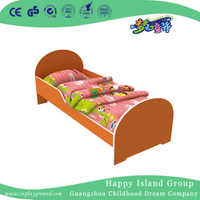 Red Painting Not Toxic Wooden School Bed for Children (HG-6501)