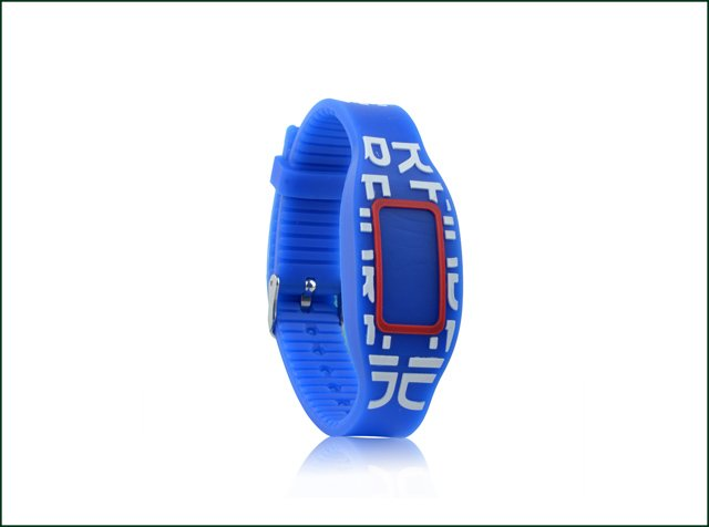 Customized Logo Printing Reusable 13.56MHz RFID Silicone Wristband