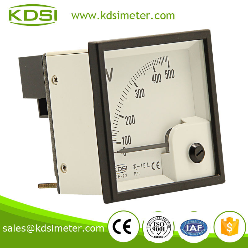 正泰电压表同款 be-72 ac500v 指针交流电压表
