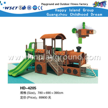 Double Slide Outdoor Children Galvanized Steel Playground for Train Model Equipment(HD-4205)