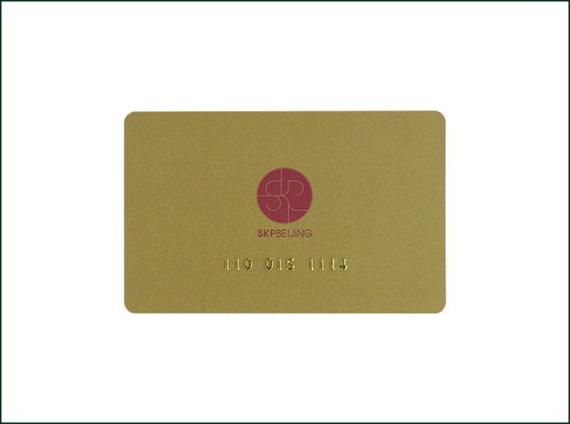 PVC Rewritable Passive Embossed IC Smart Card Printing