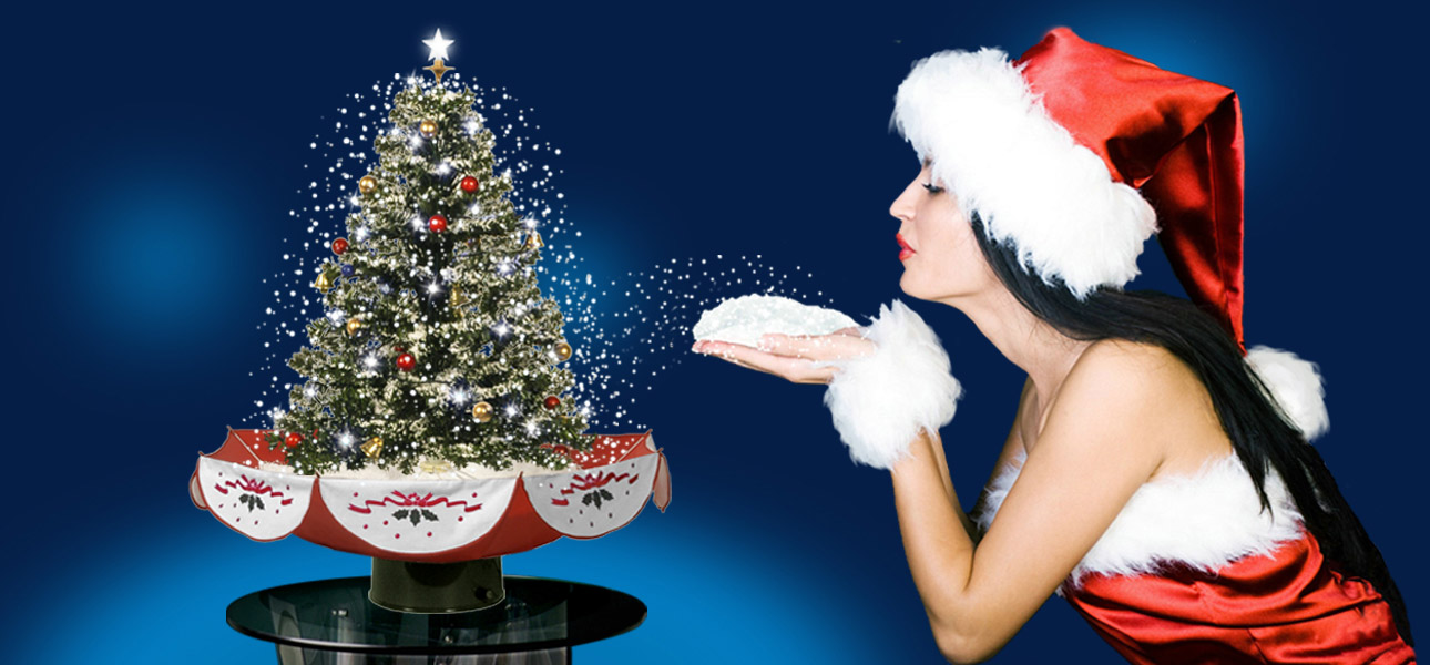 Snowing Christmas Tree, Snowing Christmas Decoration