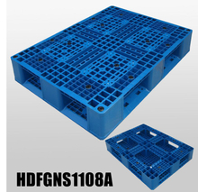 1100*800*155mm stackable plastic pallet with full perimeter bottom