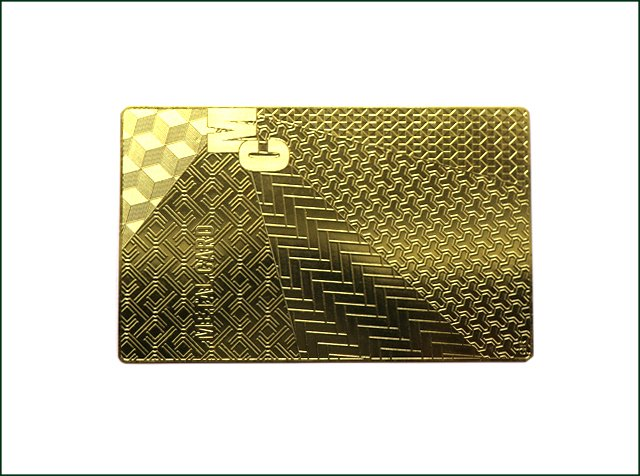 Customized Design Colored Metal Card