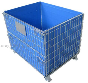 Storage Cage with Blue PP Sheet