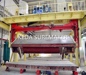 Demoulding crane for green cake