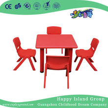 School Children Study Square Plastic Desk for Four (HG-5102)