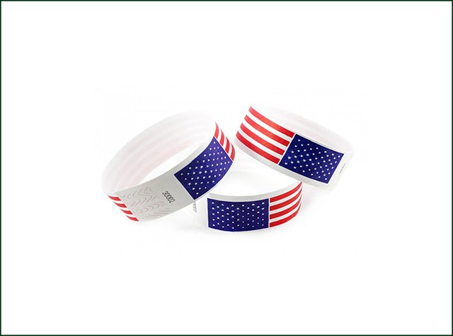 Logo Available Disposable Tyvek Paper Wristband For Hospital