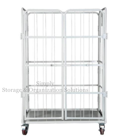 A Frame Secure Nestable Roll Containers for Logistics Transship