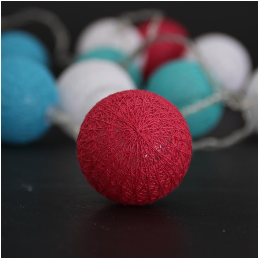 Cotton Ball Light String Christmas Light Holiday Decoration Ball String Light