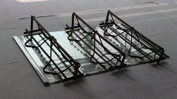 Steel bar truss template