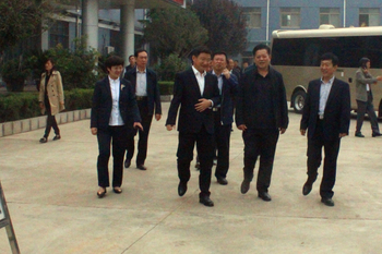 Tengzhou City People's Congress deputy director Li Guangxian led the delegation to visit are convinced that the Group made an inspection tour