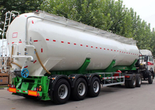 38000L Dry Bulk Tipper Dump Tanker Semi Trailers with 3 Axles for Bulk Anthracite Powder, Cement Tanker Semi Trailer