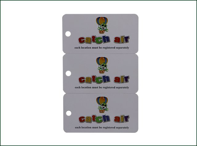 Custom full color printed 3-parts PVC Luggage die cut card