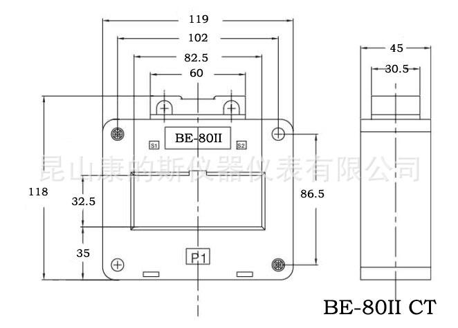 产品库 电子元器件 其他 互感器 方孔型电流互感器 be-80iict 600/5a
