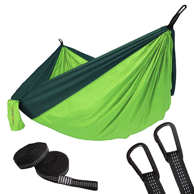 Camping Hiking Portable Hammock with 10feet Strap D Shape Carabiners