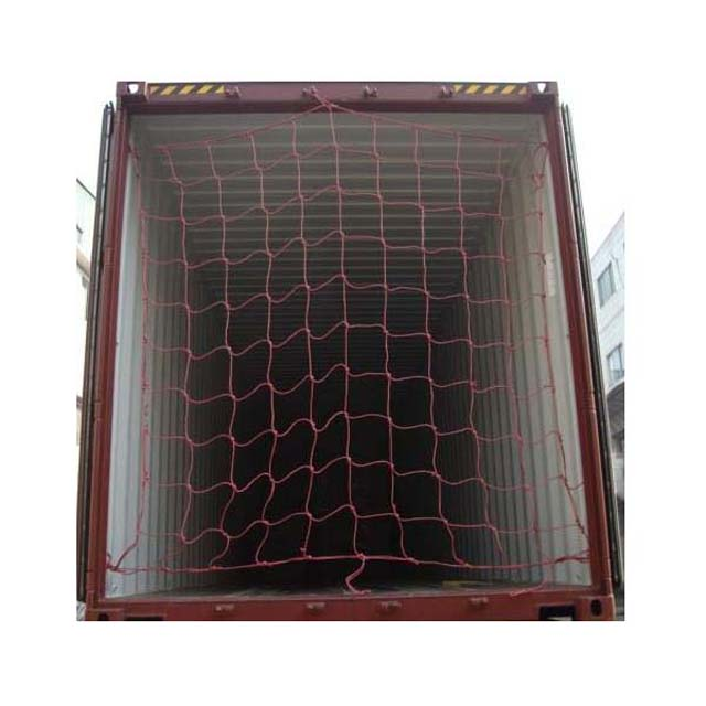 PP UV 180gsm black color knotless cargo net, container net,packing net