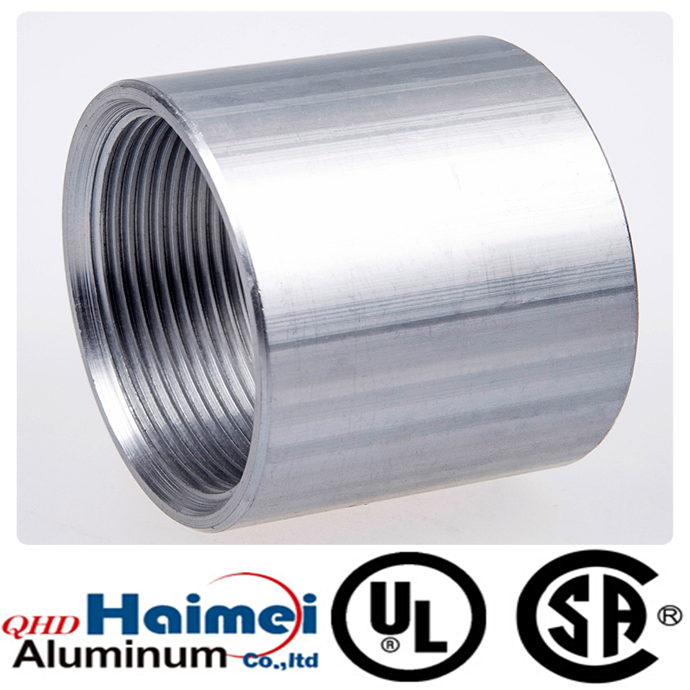China Aluminum Threaded Pipe Fittings Of Rigid Coupling