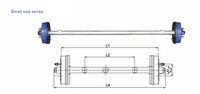 2T American Type Axles Trailer Axle