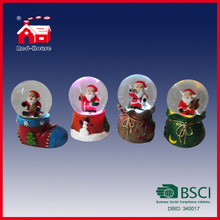 Unique Christmas Santa Claus Resin Water Snow Globe Christmas Stocking Gift Souvenir Bag Base