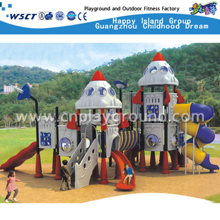 Günstige Outdoor-Kinder Weltraum Kombination Slide Spielplatz Set aus China Factory