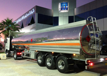 45000L Aluminum Tanker Semi Trailer with Super Single Tires for Methylmethane at Freeway Fuel Logistic