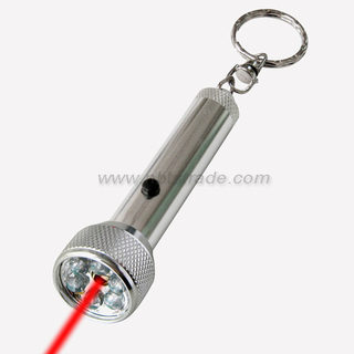 6 LED Keychain Light with Laster Pointer