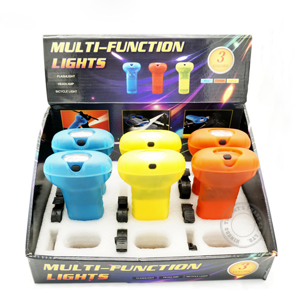 Battery Operated Multi Function Flashlight Headlight Bicycle Light
