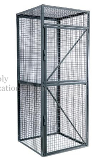 One Shelf Steel Wire Security Cage Stationary Material Factory