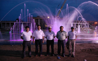 Darkhan dry music fountain