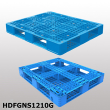 Plastic pallet with 6 runners bottom L1200*W1000*H150 stackable and open deck