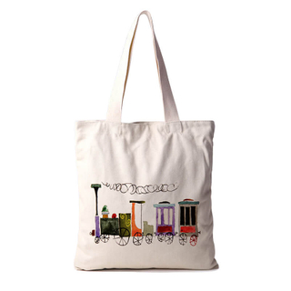 Customied Canvas Tote Bags Heavy Duty Canvas Tote Shopper Tote with Gusset