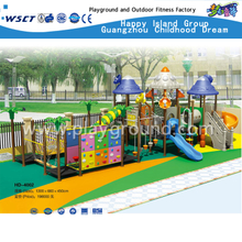 Kids Outdoor Plastic Playground Kindergarten Playground For Sale(HD-4002)