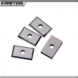 Rectangular Solid Carbide Replacement Insert Knives-One Hole