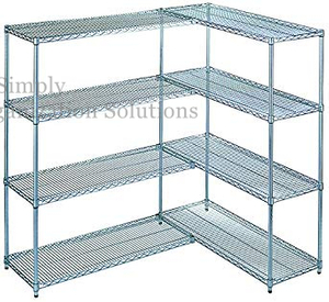 "Restaurant Kitchen 42""X 30"" 4 Tier Wire Rack Unit Adjustable Wire Metal Shelving"