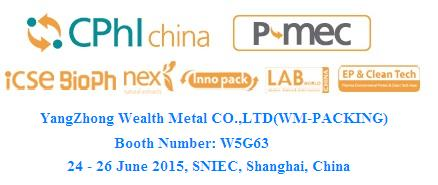 15th CPhI & P-MEC China 2015 BOOTH NUMBER:W5G63