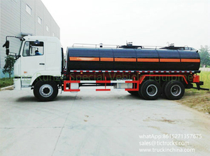 CAMC Bitumen Tanker Heated Asphalt Tank Truck with pump 12-16cbm