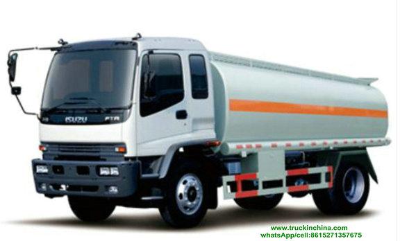 Capacité 18CBM.jpg de camion de réservoir de stockage de pétrole d'ISUZU 4x2