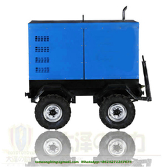 Mobile Welding Plant Mounted on Dolly Trailer With 400A TOYOTI Diesel Generator Welding Machine