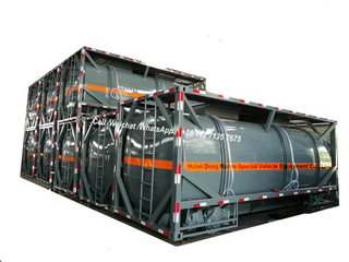 20FT ISO HCL Acid Tank Container 21cbm For Vietnam Chemical Factory Acid Trailer Transportation