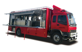 ISUZU FTR Mobile Food Cooking Truck Customizing