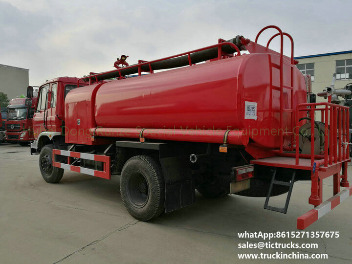 water tank lorry Fire fighting truck 1600Gallon export to YANGON,MYANMAR