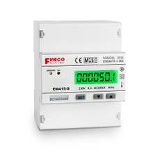 EM415-S 10(100)A MID approved lcd display single phase din rail mounted kwh meter s0 output meter