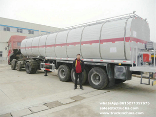 45Ton hot liquid asphalt tanker semi-trailer with heating and insulation BTL20 Burner heater export to Musurata Libya