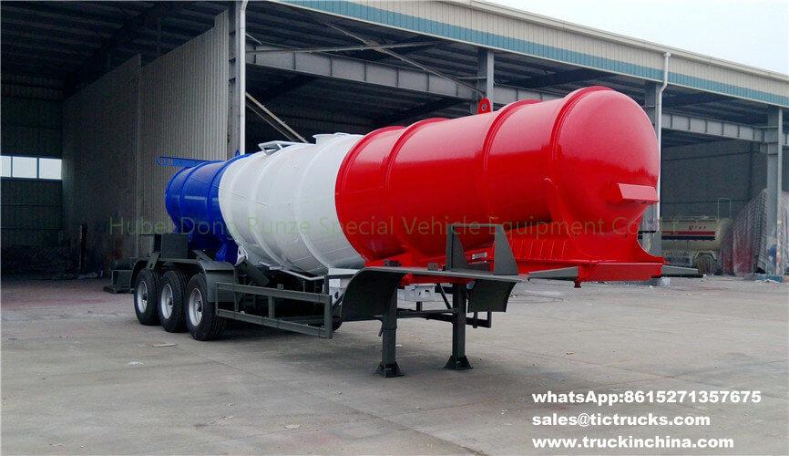 Réservoir semi trailer_1 d'acide sulfurique