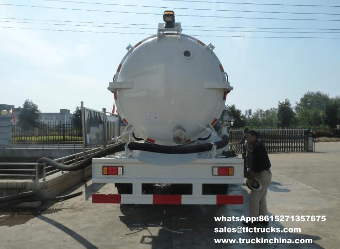 Remorques en acier de réservoir de vide