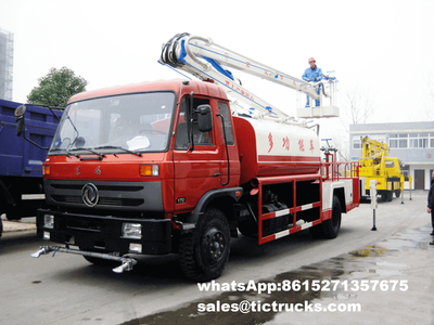 Dongfeng 4x2 Overhead working truck with sprinkler