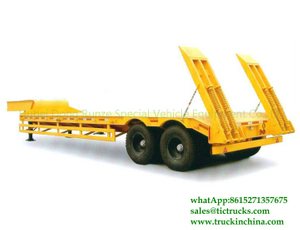 DRZ9340TDP 2 axles Low Bed Trailer