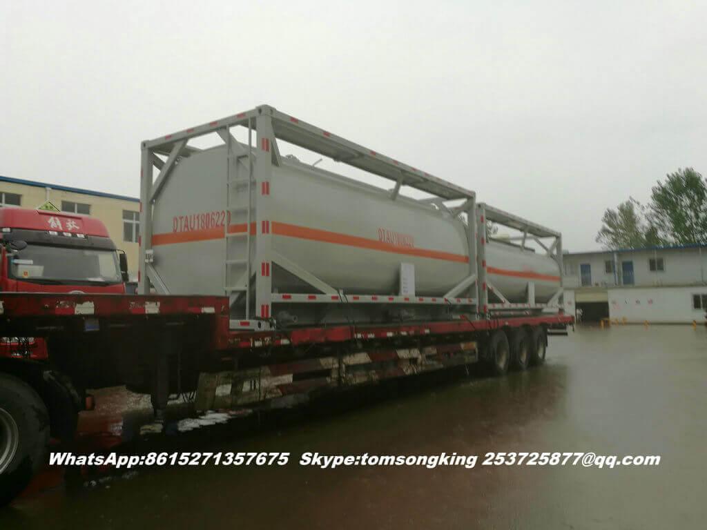 Steel lined PE ISO tank -87